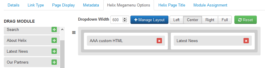 Megamenu定制(Helix3教程)