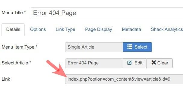 在Joomla中创建自定义404页面